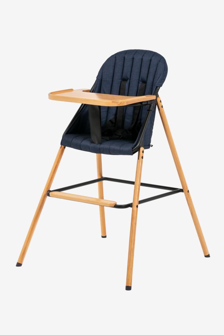 main wood highchair blue